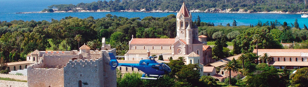 panoramic flight around the lerins islands in cannes - 6 minutes 