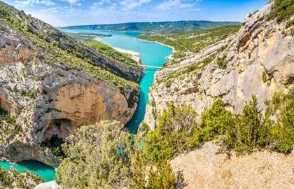 "PANORAMIC FLIGHT ""THE GORGES DU VERDON"" - 1HOUR"
