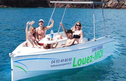 BOAT RENTAL WITHOUT LICENSE IN CANNES - AFTERNOON 2PM-6PM